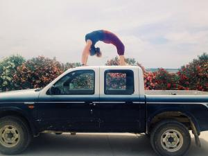 Wheel pose on the truck at Suryalila
